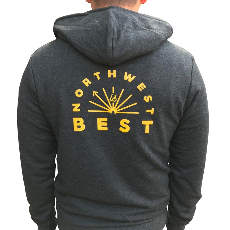 Northwest is Best men's/unisex zip hoodie