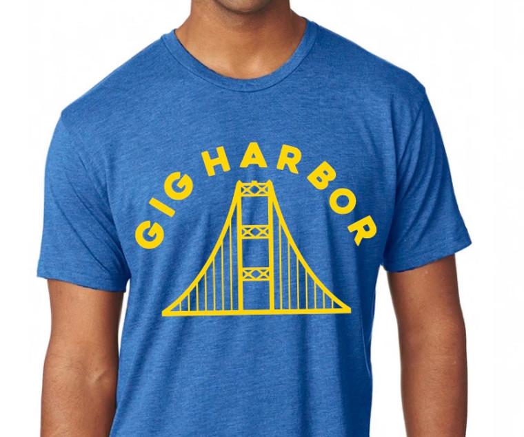 Gig Harbor Narrows Bridge men's shirt