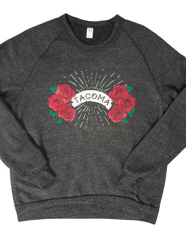 Tacoma Roses unisex crew (1)
