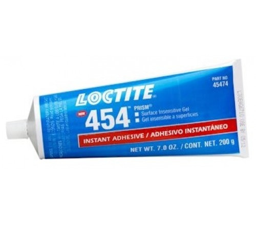 Loctite 454 Adhesivo Instantáneo Prism, Insensible a Superficies - Tubo 200 g