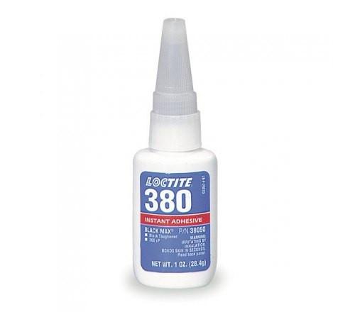 Loctite 380 Adhesivo Instantáneo Black Max, Tenaz - Botella 20 gr