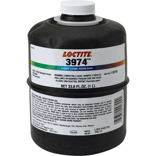 Loctite AA 3974 Ligt Cure Adhesive Botella 1 lt