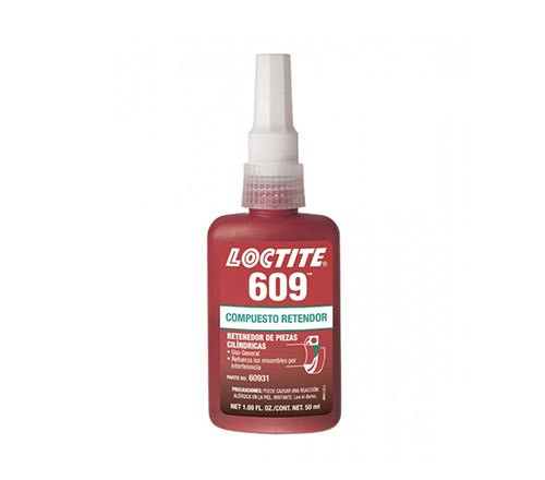 Loctite 609 Compuesto Retenedor, Propósito General - Botella 50 ml