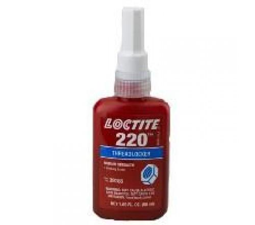 Loctite 220 Fijador de roscas resistencia media/ grado capilar/ azul. - botella de 50 ml