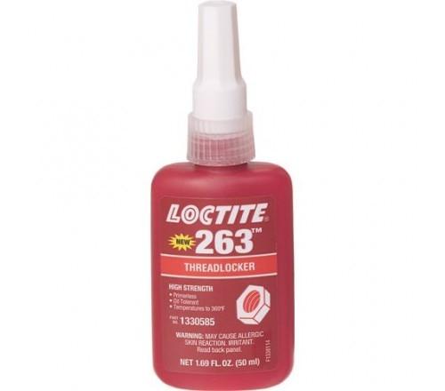 Loctite 263 Fijador de Roscas, Resistencia Alta - Permanente - Botella 50 ml