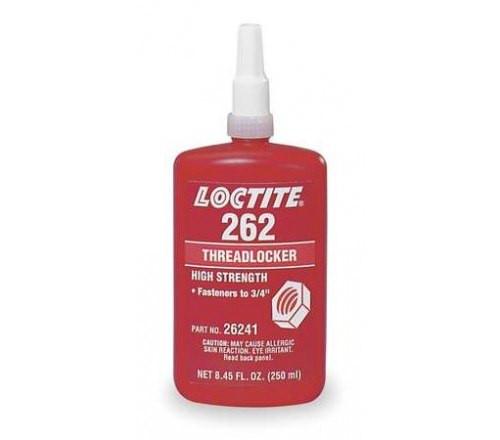 Loctite 262 Fijador de Roscas, Resistencia Alta - Permanente - Botella 250 ml