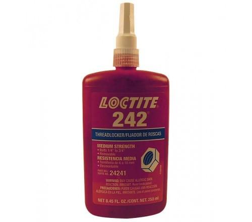 Loctite 242 Fijador de Roscas, Resistencia Media - Removible - Botella 250 ml
