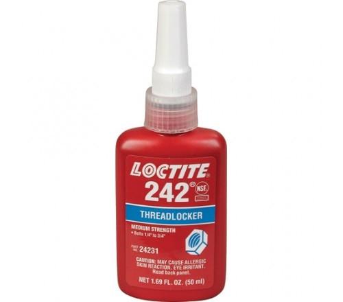 Loctite 242 Fijador de Roscas, Resistencia Media - Removible - Botella 50 ml