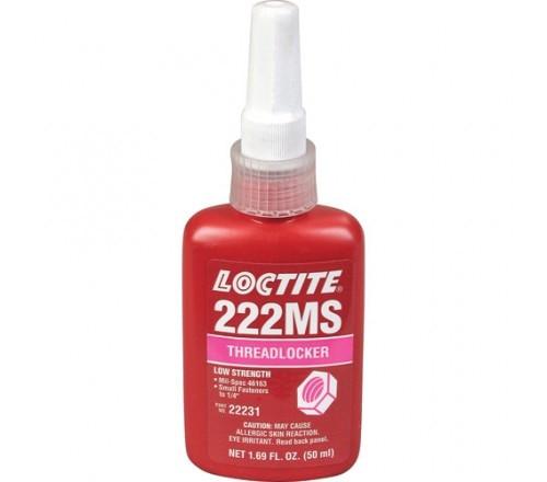 Loctite 222MS Fijador de Roscas, Resistencia Baja - Tornillos Pequeños - Botella 50 ml