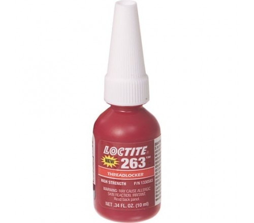 Loctite 263 Fijador de Roscas, Resistencia Alta - Permanente - Botella 10 ml