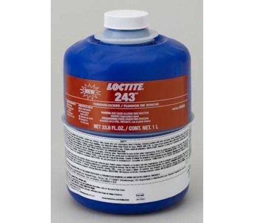 Loctite 243 Fijador de Roscas, Resistencia Media - Removible - Botella 1 Litro
