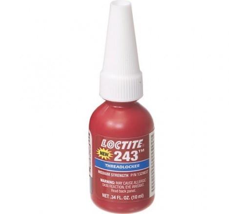 Loctite 243 Fijador de Roscas, Resistencia Media - Removible - Botella 10 ml