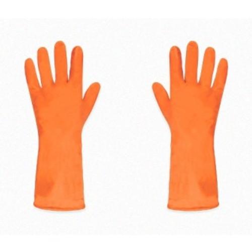 Guante de Latex Flocado(naranja)