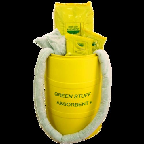 10 Calcetines 1.20Mts, 4 Calcetines De 3Mts, 16 Almohadas 30X30Cm. 18 Bolsas De 250Gr. Granulado., Green Stuff Absorbent