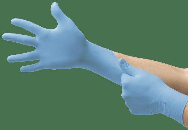 Guantes desechables de nitrilo para trabajos múltiples