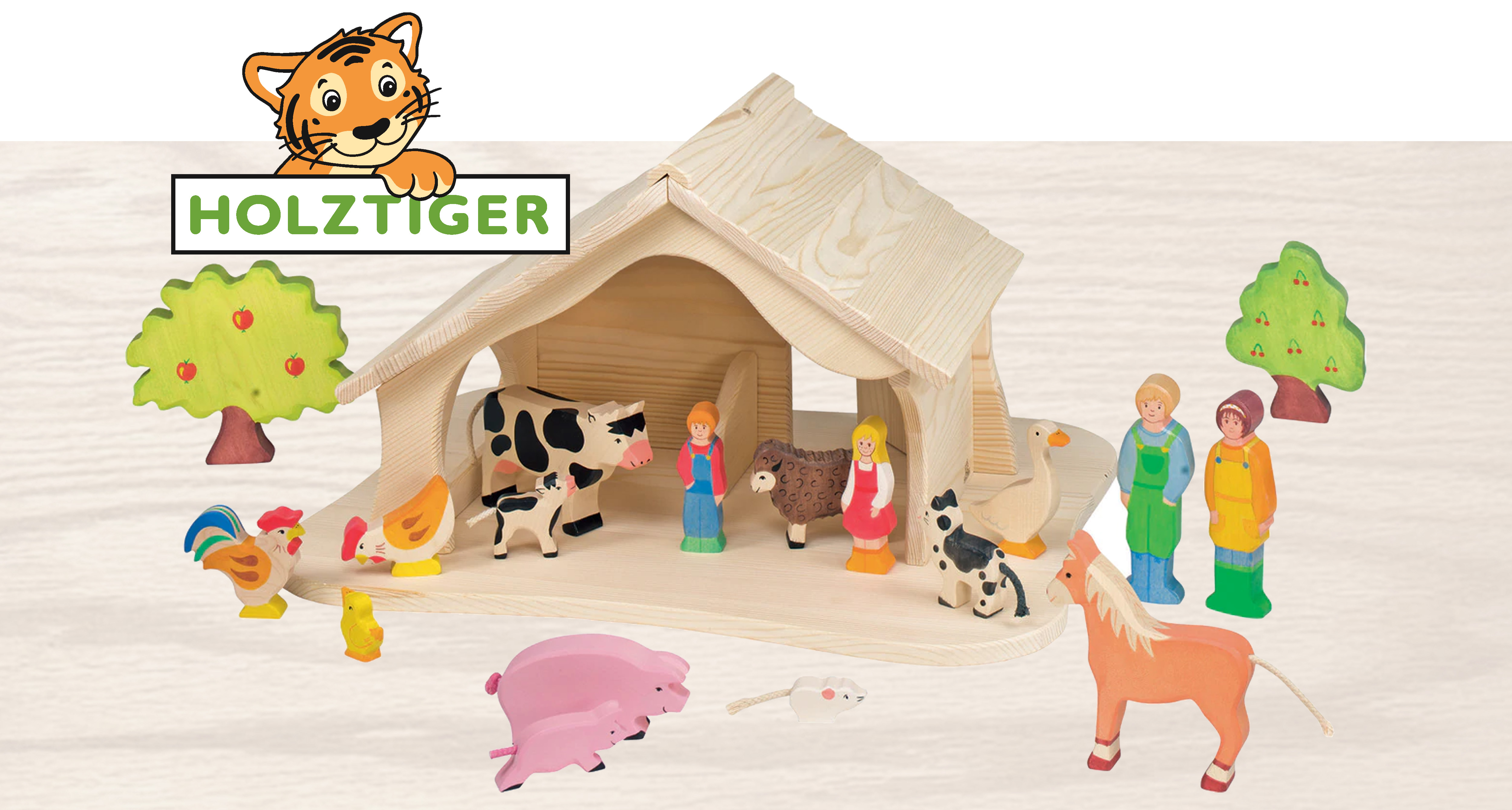 Holztiger wooden toy figurines