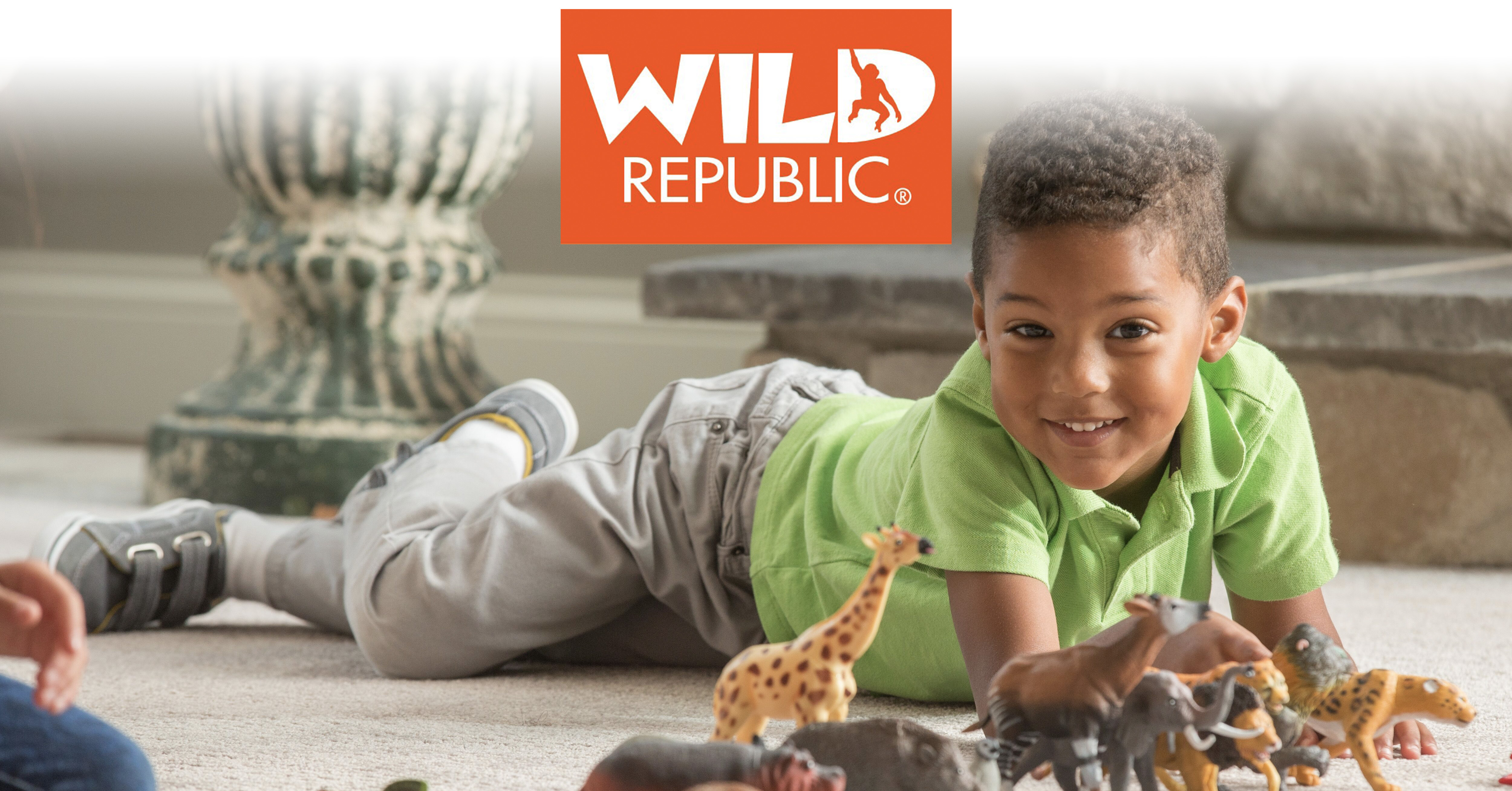 Wild Republic toy figurines main banner with penguins