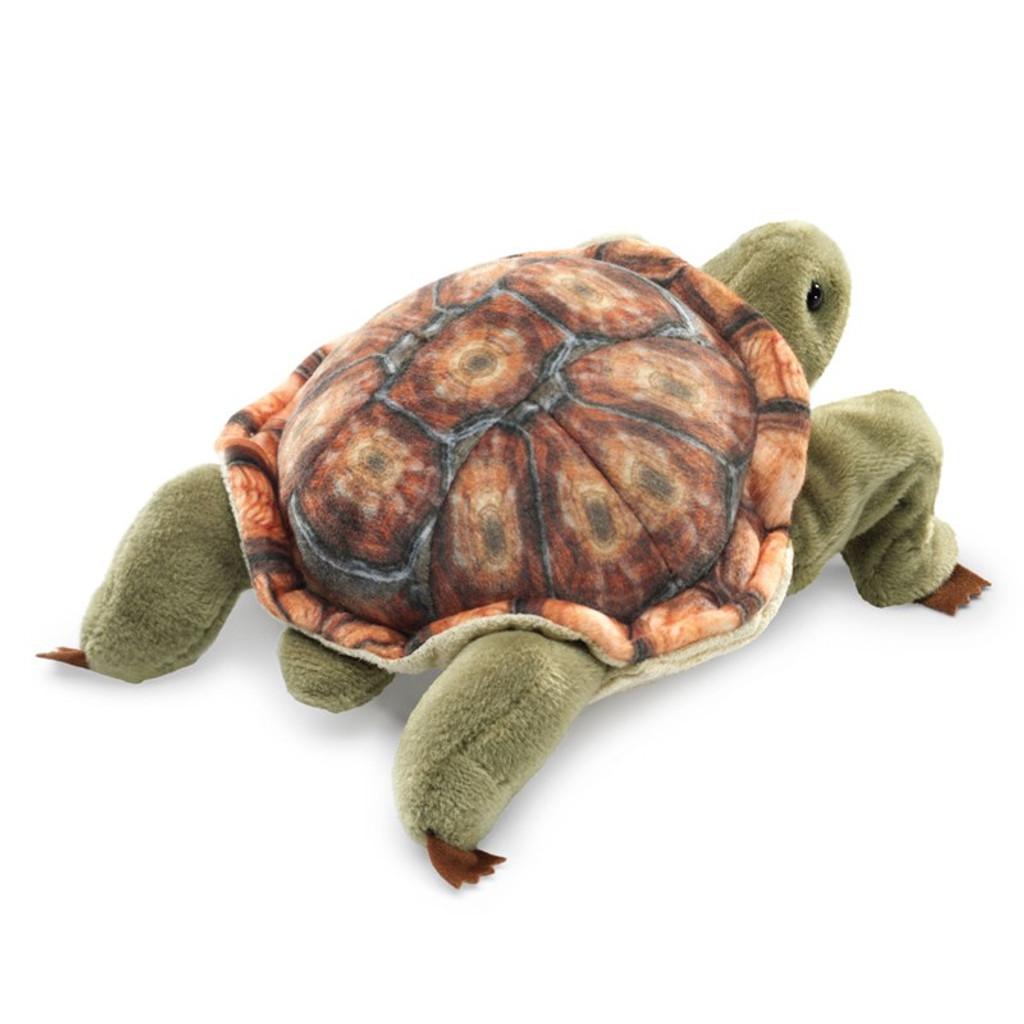 Folkmanis Mini Tortoise Finger Puppet back
