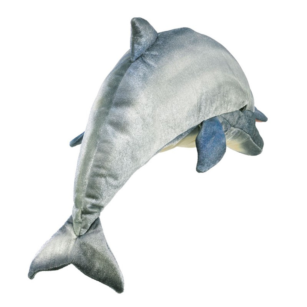 Folkmanis Whistling Dolphin Puppet back
