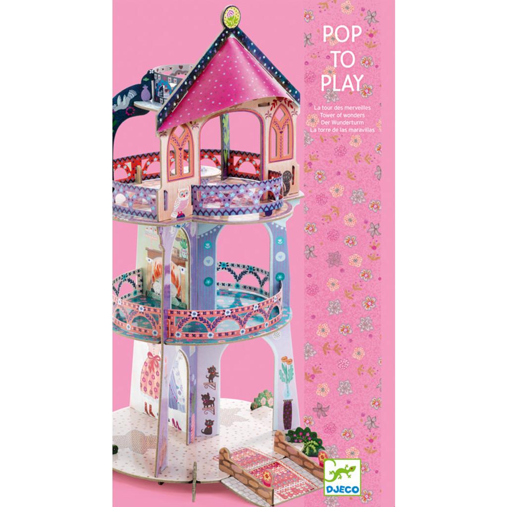 Djeco Pop to Play Tower of Wonders packaging