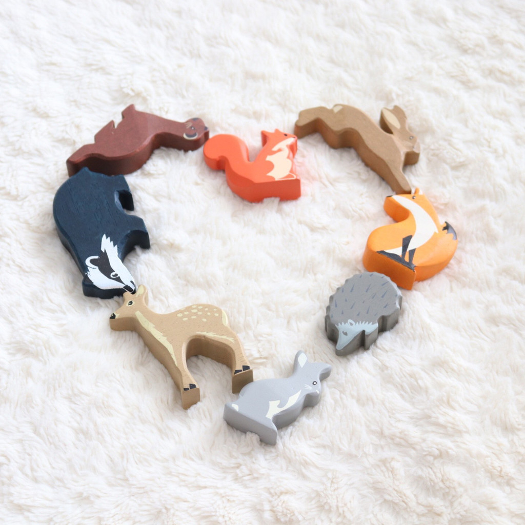 Tender Leaf Toys Woodland Animals heart shape lifestyle (each sold separately)
