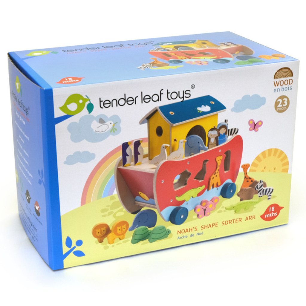 Tender Leaf Toys Noah's Shape Sorter Ark packaging