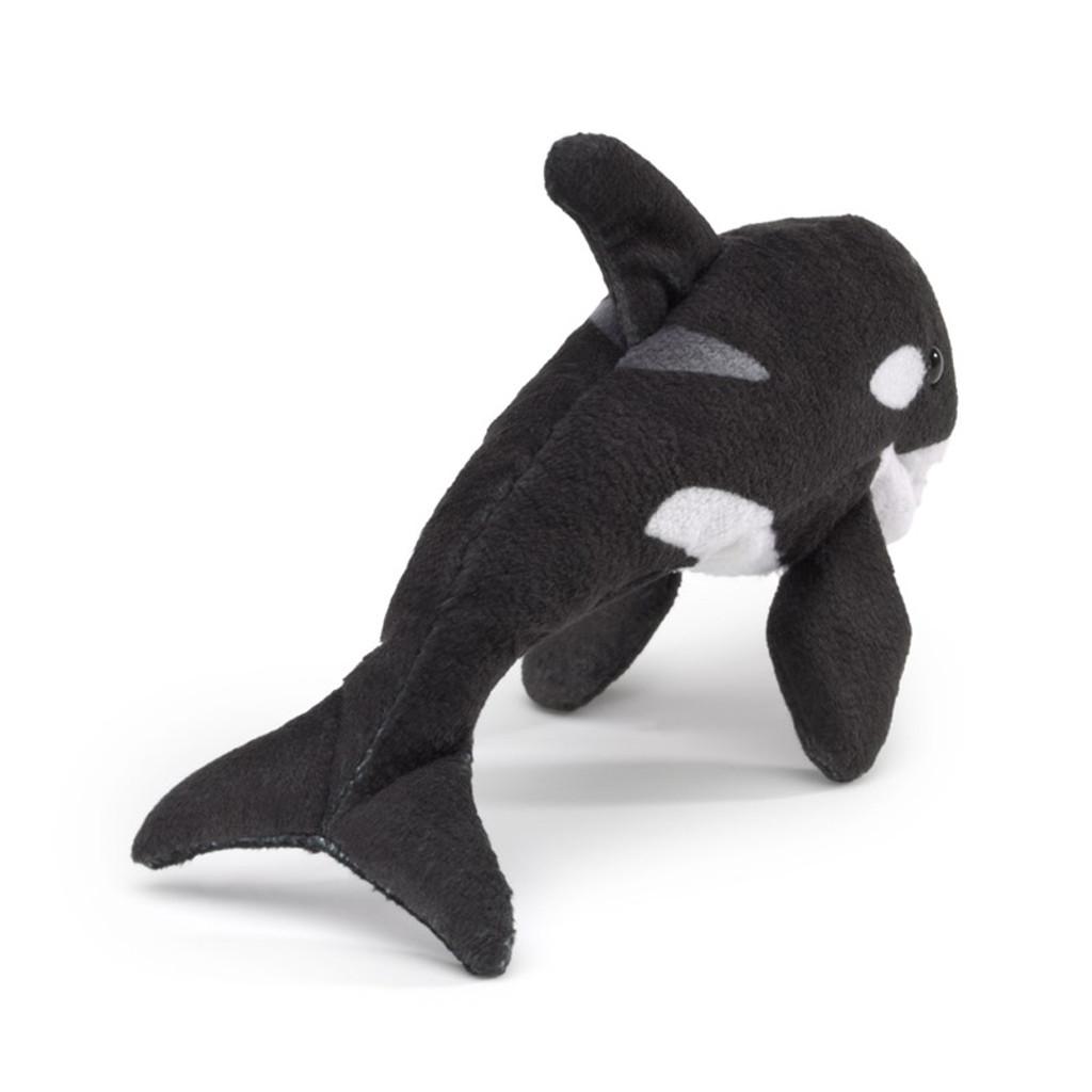 Folkmanis Mini Orca Finger Puppet back