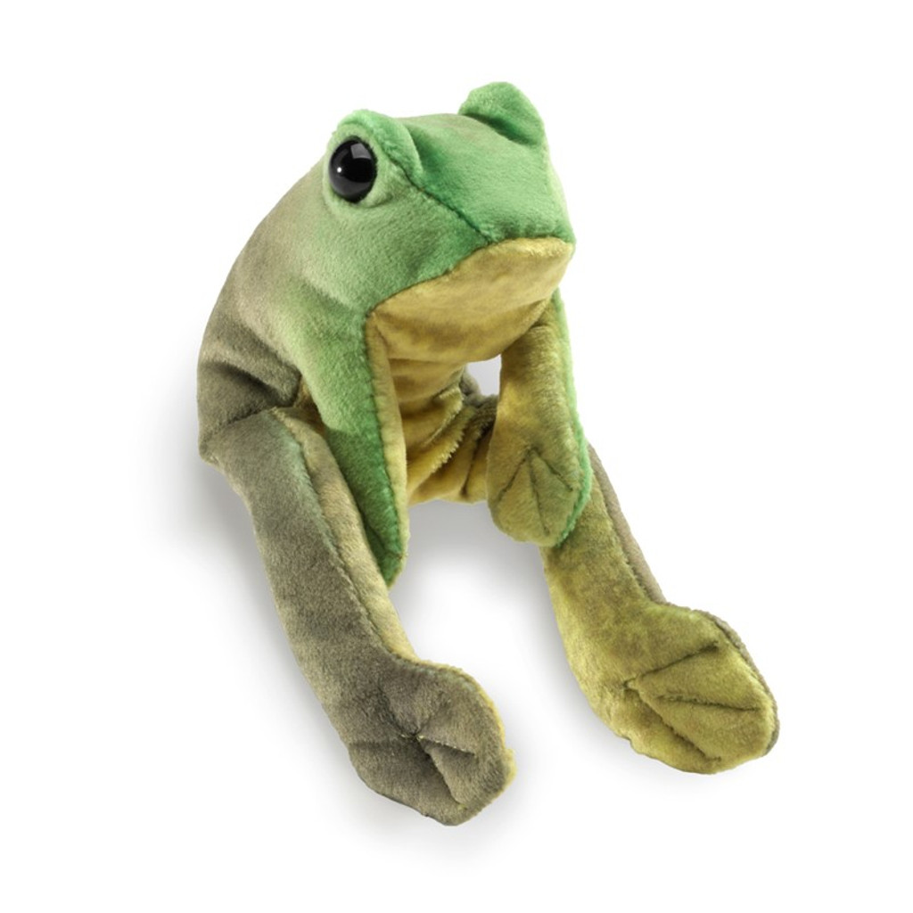 Folkmanis Mini Frog Sitting Finger Puppet