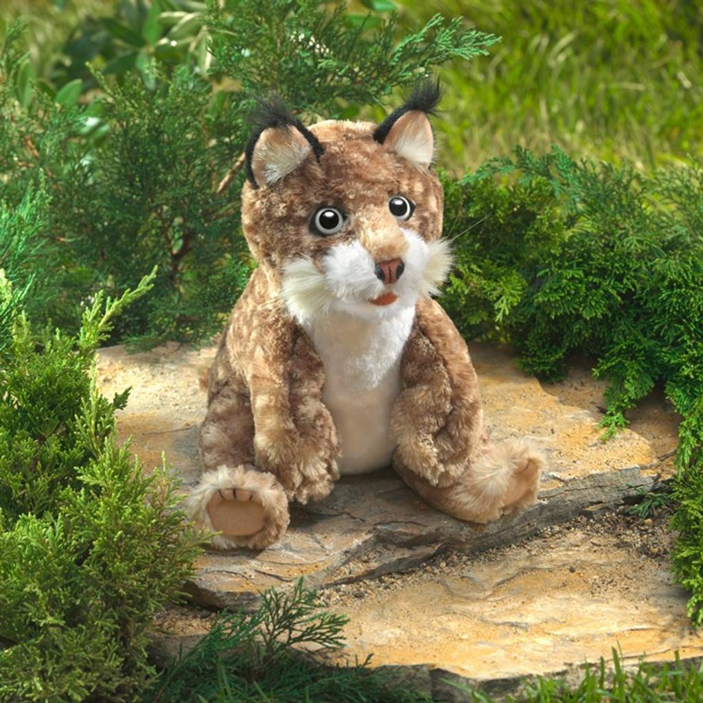 Folkmanis Bobcat Kitten Puppet lifestyle