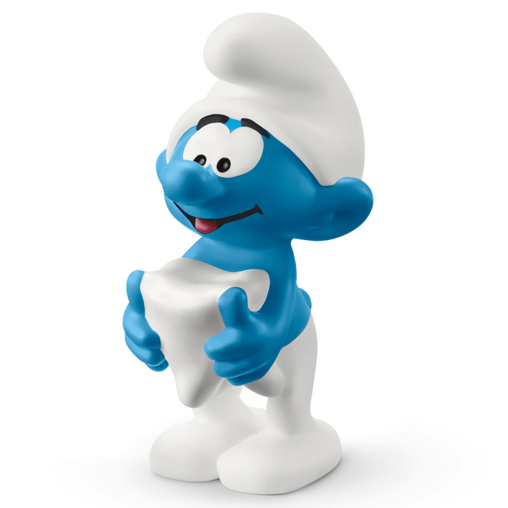 Schleich Smurf With Tooth 20820