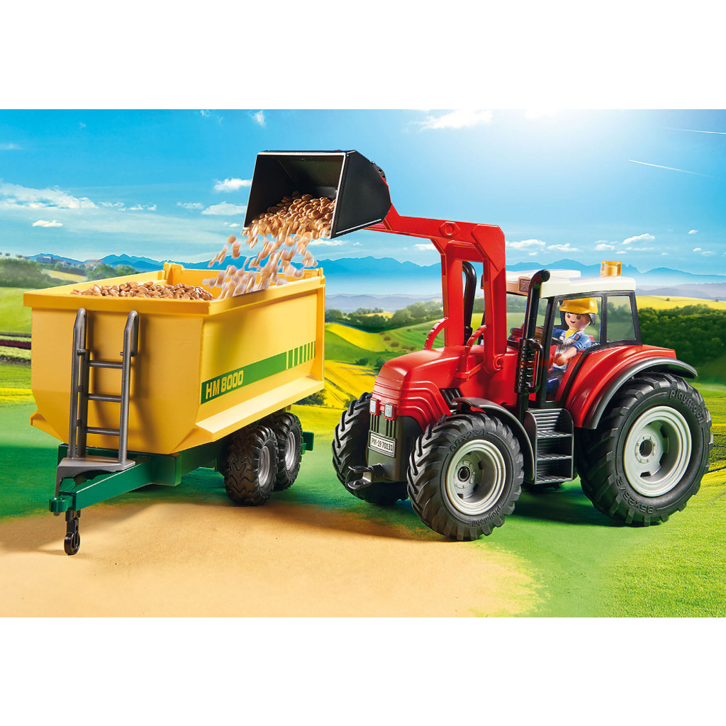 Playmobil Tractor with Feed Trailer lifestyle 4
