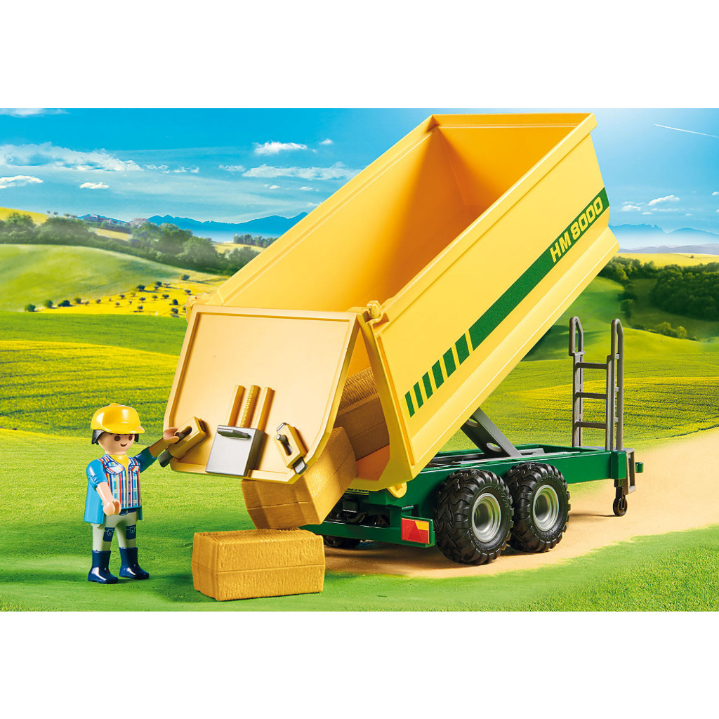 Playmobil Tractor with Feed Trailer lifestyle 3