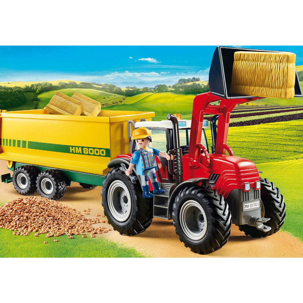 Playmobil Tractor with Feed Trailer lifestyle