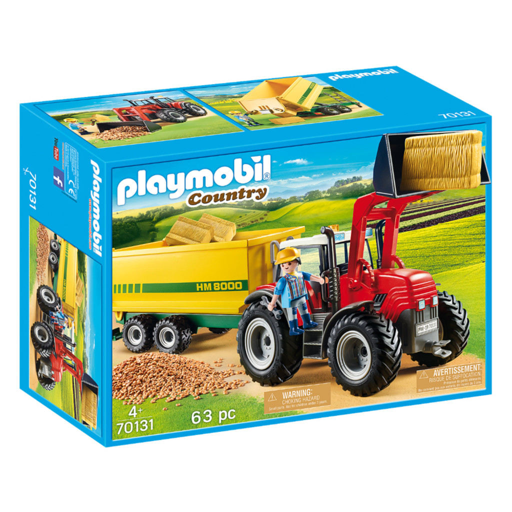 Playmobil Tractor with Feed Trailer packaging