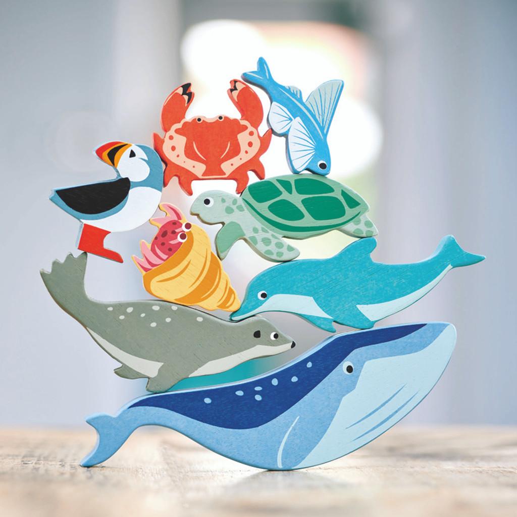 Tender Leaf Toys Wooden coastal animals