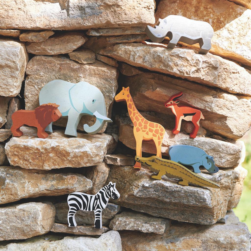 Tender Leaf Toys Wooden Safari animals