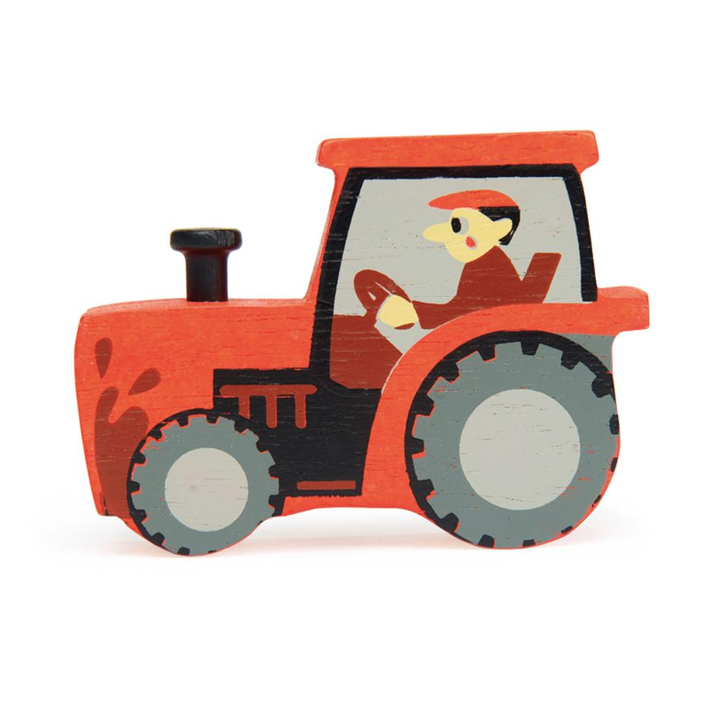Tender Leaf Toys Wooden tractor