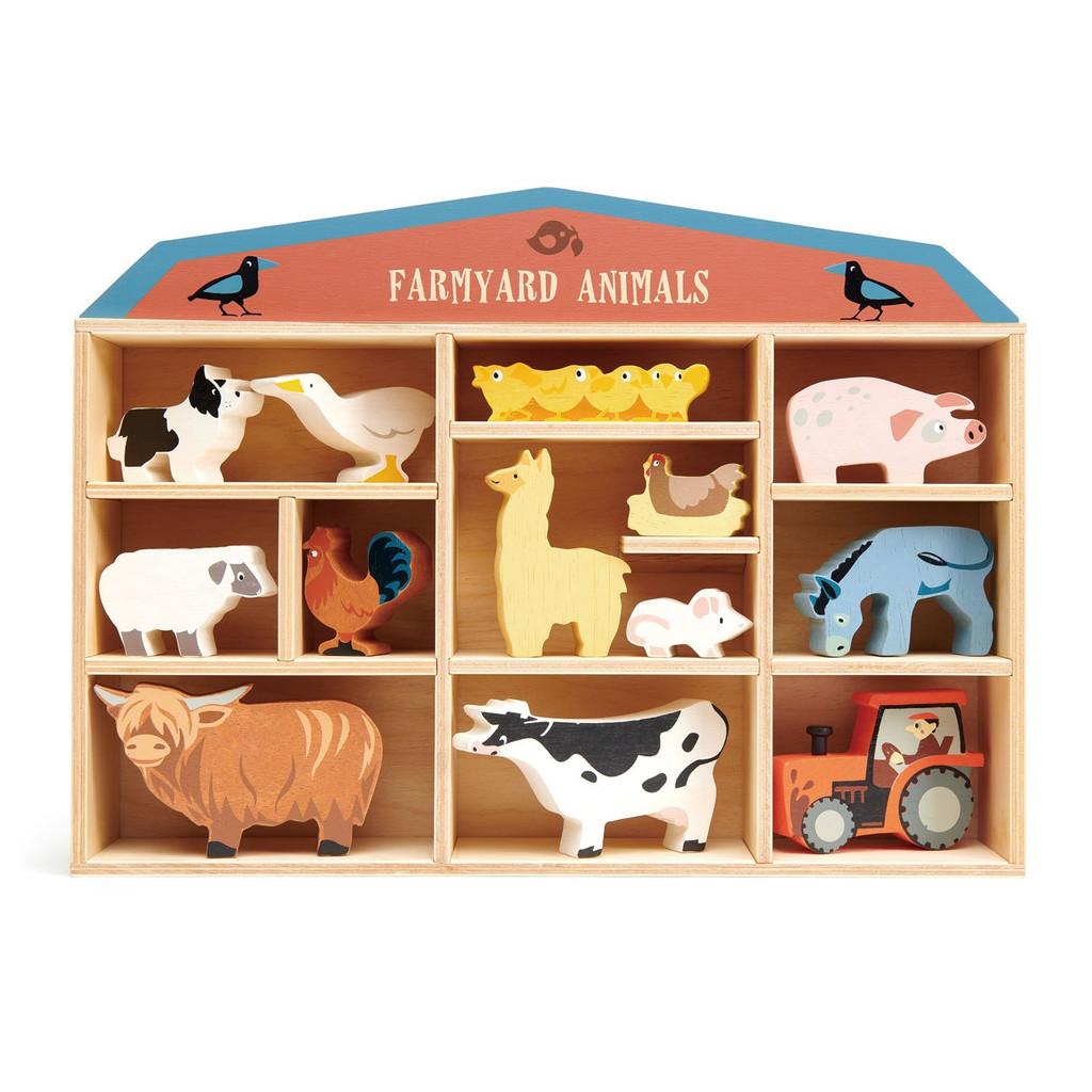 Tender Leaf Toys Wooden Farmyard Animals Set