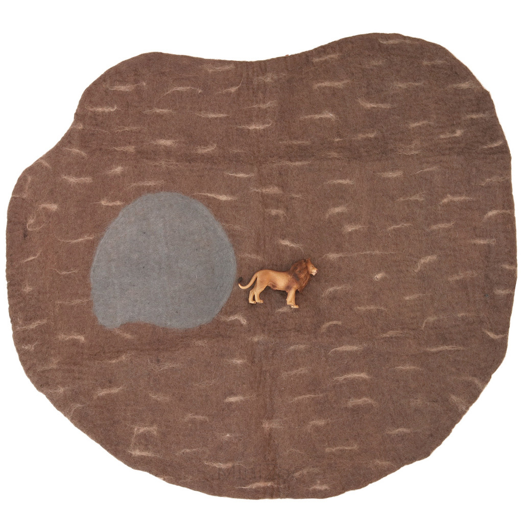 Papoose Dino Mat Large with CollectA Lion (sold separately)