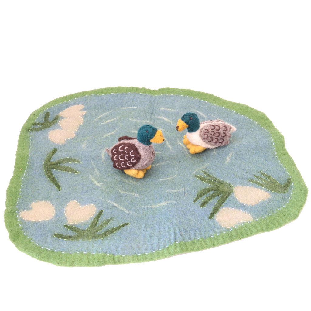 Papoose Duck Pond with Ducks 3pc
