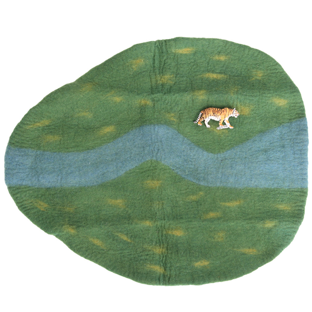 Papoose River Play Mat with Schleich Tiger (sold separately)