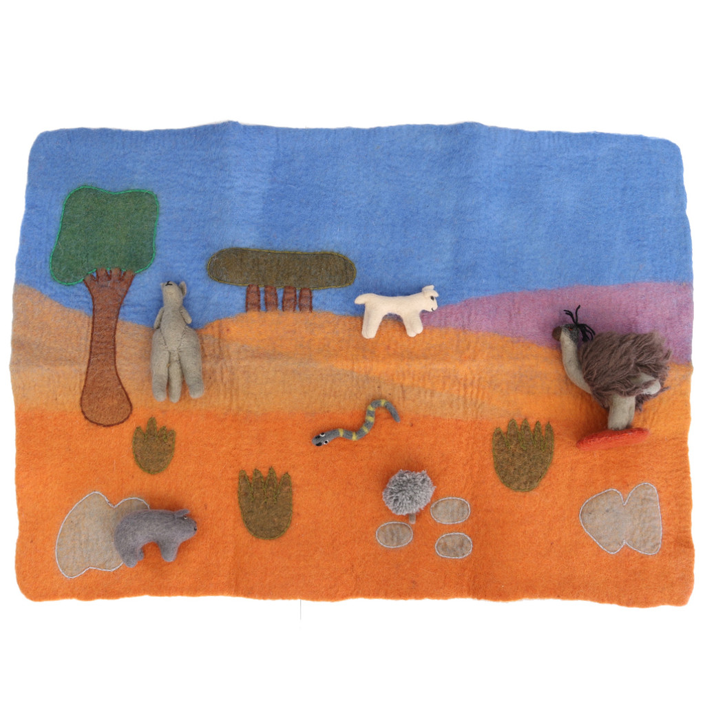 Papoose Australian Play Mat with Australian animals (sold separately)