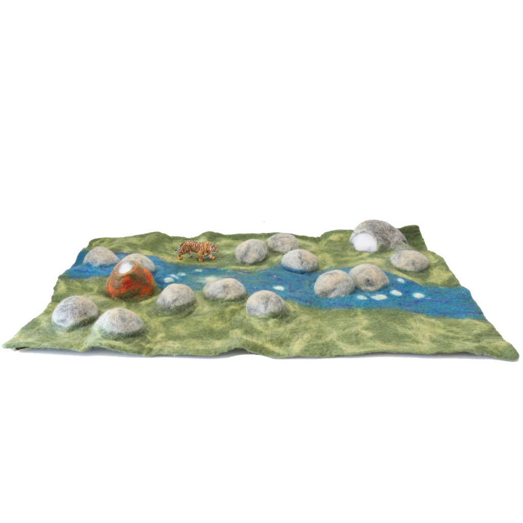 Papoose Jurassic Mat with Schleich Tiger (sold separately)