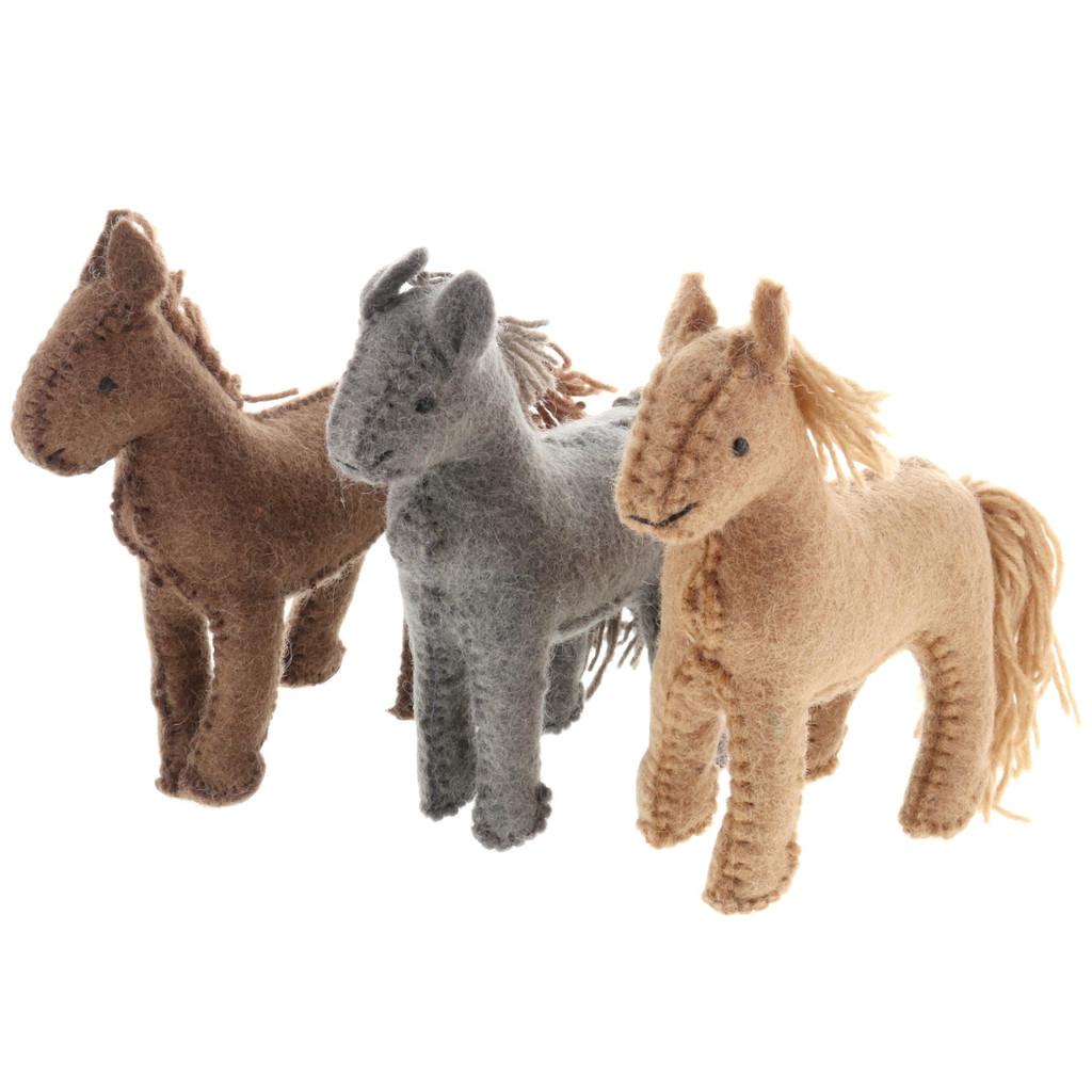 Papoose Village Horses 3pc
