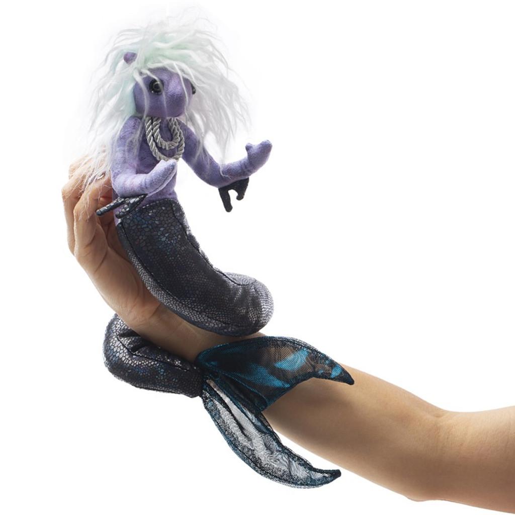 Folkmanis Sea Nymph Puppet on wrist