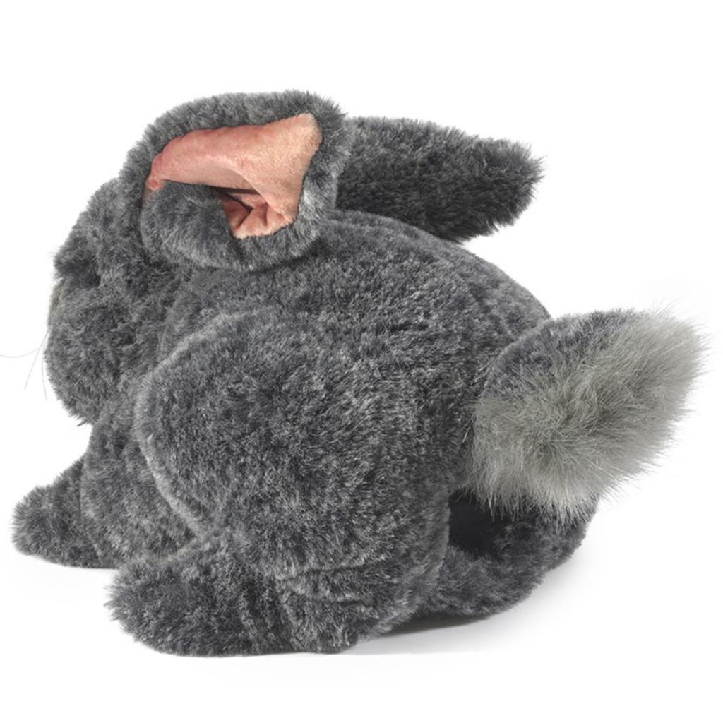Folkmanis Grey Bunny Rabbit Puppet back