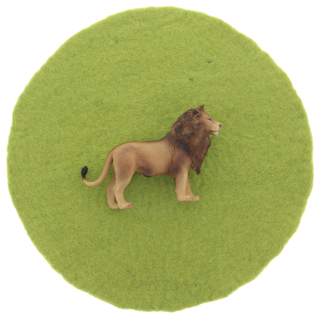 Papoose Landscape Mat size reference with CollectA Lion (sold separately)