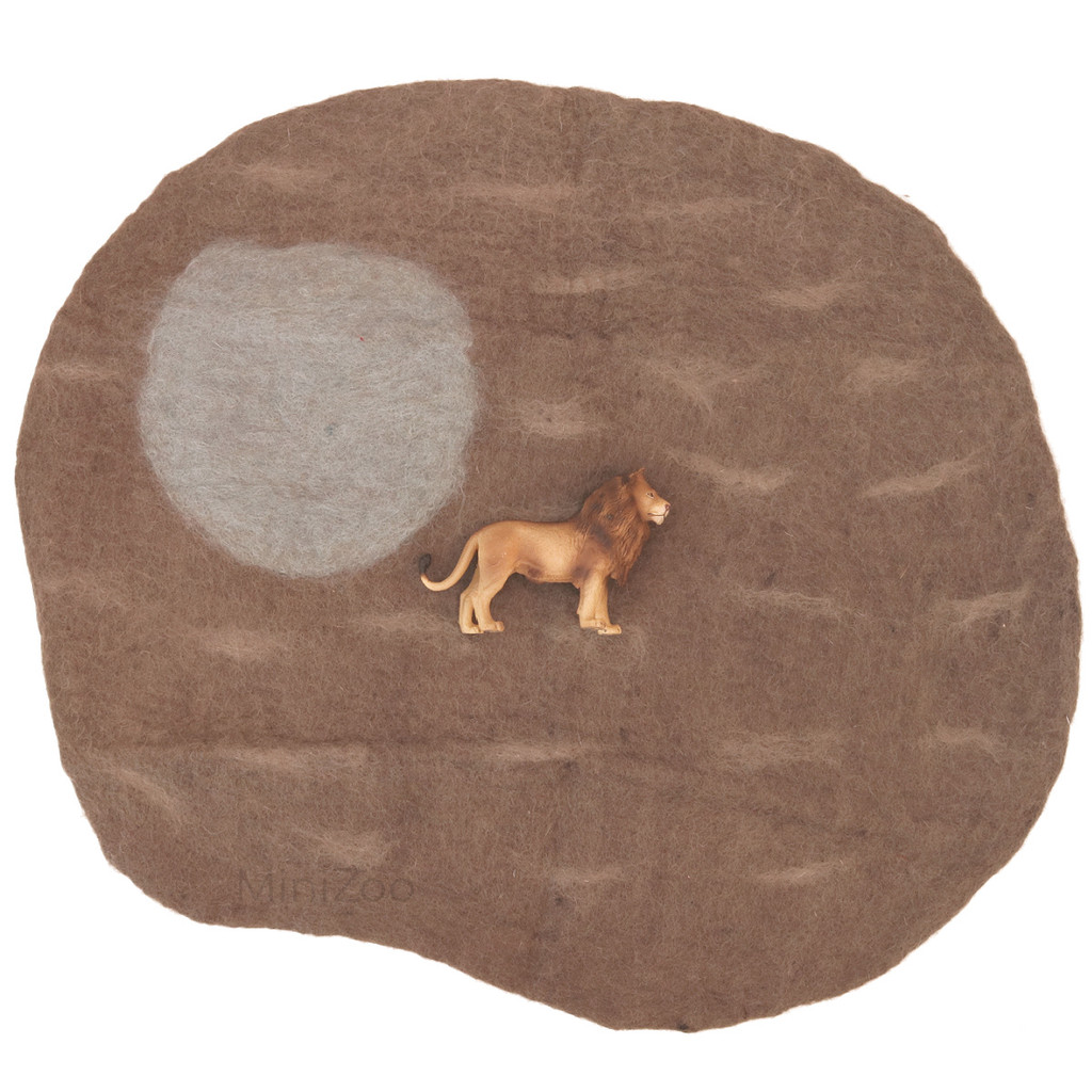 Papoose Dino Mat Small with CollectA Lion (sold separately)