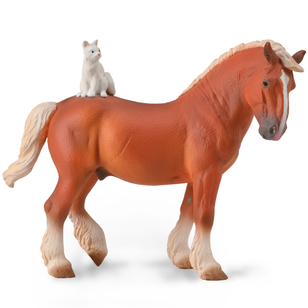 CollectA Draft Horse with Cat