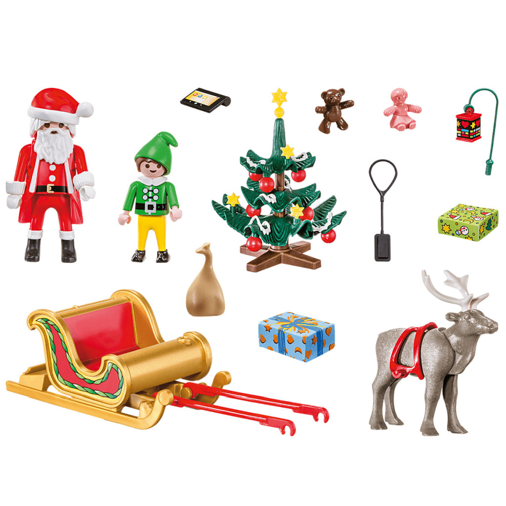 Playmobil Christmas Carry Case inclusions